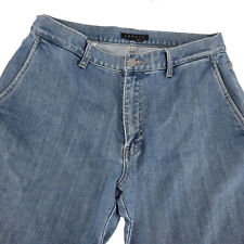 Theory Knut Mens Jeans Size 32 x 31 Cotton Blue Denim Straight Leg Zipper 52635