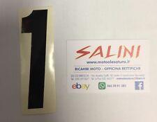 Numero Numeri adesivi gara moto cross UNO nero - 10 cm