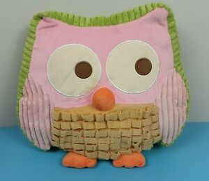Circo Love and Nature Owl Shaped Plush Pillow Accent Room Decor 14 X 13 X 5 Pink