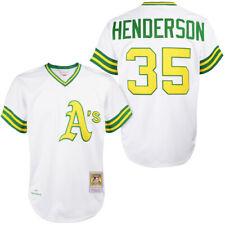 Rickey Henderson Mitchell Ness Oakland Athletics аутентичные Pro белый 1979 Джерси