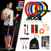 Fitnessclub Resistance Bands Set 14 Pack Yoga Exercise Upgraded W/Anti-Snap