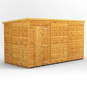 Power Pent Garden Shed | Power Sheds | Windowless Pent | Sizes 12x6 up to 20x6