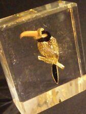 Rare resine inclusion d'une broche Carven , présentation boutique Vintage.