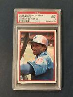 1984 Topps All-Star Glossy Set of 40 #37 TIM RAINES ~HOF~ Montreal Expos PSA 9