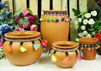 Terracotta Cactus Pots Ornament Vase Home Decor Strong Indoor Retro Planter Gift