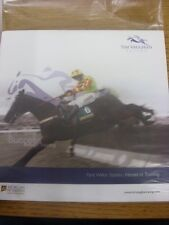 2012/2013 Horse Racing: Tim Vaughan Racing - Promotion Brochure, listing winners