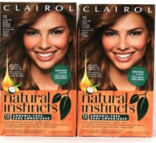 2 Damaged Boxes Clairol Natural Instinct 7G Dark Golden Blonde Semi Perm Color