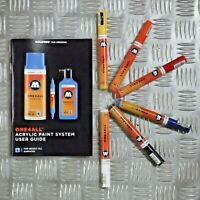Molotow One4All 227 HS Acrylic Marker - Basic Set - 6 Markers With User Guide