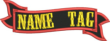"RIBBON BANNER Name Tag 4"" x 1.5"" Embroidered Patch"
