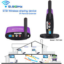 300M 5.8GHz TV Wireless AV Transmitter Receiver Sender Audio Video + IR Extender