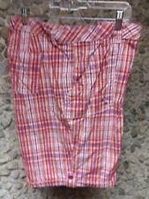 Basic Editions woman's orange & purple plaid shorts size 24 W only $10.99 !