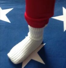 "The Six Million Dollar Man Replacement White Socks for 13"" Action Figure Bionic!"