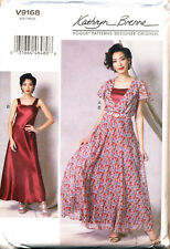 VOGUE SEWING PATTERN 9168 MISSES 14-22 KATHRYN BRENNE PULLOVER MAXI DRESS & SLIP