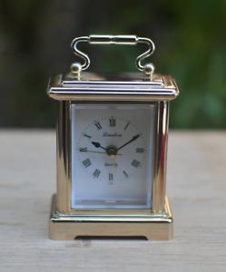 vintage  Linden Brass Quartz   mini desk clock made in Japan