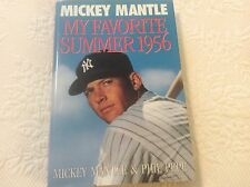 Mickey Mantle Book My Favorite Summer Time 1956 1st Edition New