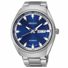 New Seiko Men's Recraft Blue Dial Automatic Self Wind Silver-Tone Watch SNKN41