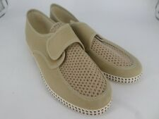 Mens New Falcon Touch fastening Comfort Shoes UK 7.5 EU 41 LN25 19