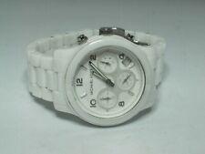 Michael Kors Women's Chronograph Runway White Ceramic MK-5161