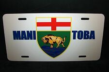 MANITOBA FLAG CAR LICENSE PLATE  COAT OF ARMS