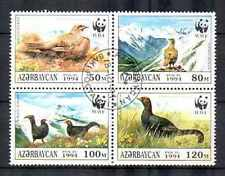 Oiseaux Azerbaidjan (42) série complète de 4 timbres oblitérés