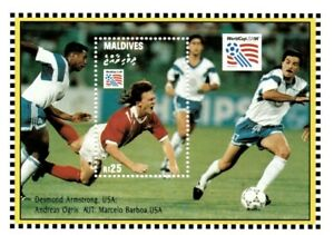VINTAGE CLASSICS - Maldives 1952 - World Cup USA Vs Austria - S/S - MNH