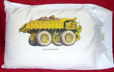 Kids Designer Dump Truck on Standard Pillowcase Very Unique Item100% Cotton