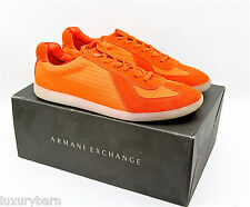 ARMANI EXCHANGE A|X SIGNATURE SNEA ORANGE SHOES SNEAKERS NEW SIZE 12 US 45 EU