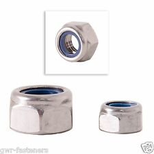 M10 Nyloc Nuts - Metric Fine Pitch 1.25mm - 10 Pack