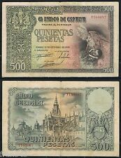 500 PESETAS 1940 CONDE ORGAZ Serie 1109097 P.125   MBC  VF