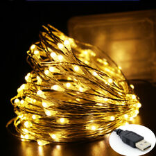 5M Warm Copper Silver Wire USB LED String lights Waterproof Holiday lighting