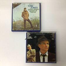 2x Vtg Stereo Music Reel-To-Reel Tapes Frank Sinatra Tom Jones #924
