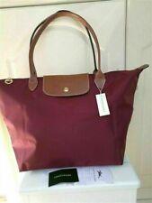 New Longchamp Le Pliage nylon tote burgundy bag