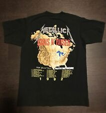METALLICA Guns N Roses Reprint VTG 1992 Faith Tour T Shirt Metal Concert 90s