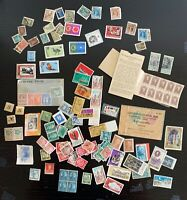 Lot of Stamps from Around the World - USA, USSR, Czechoslovakia, Indonesia +