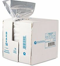 1000 Poly Food Storage Plastic Bags 8 x 4 x 18 Restaurant Supplies FDA Compliant