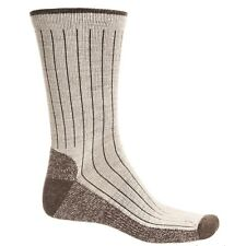 Woolrich Merino Wool Blend Casual Crew Socks, Oatmeal, Striped, Men's Size Large