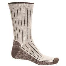 Woolrich Merino Wool Blend Casual Crew Socks, Oatmeal, Striped, Men's Size Large