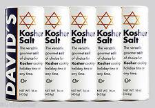 5x David's Kosher Salt 5x453g, Gourmet Salt for Koshering, Brining, Canning