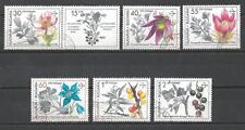 Flore - Fleurs Bulgarie (20) série complète de 6 timbres oblitérés