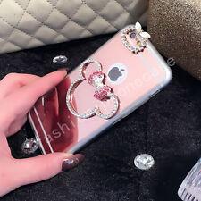 Cute Chrome Mirror Bling Diamond Rhinestone Bowknot Minnie Mouse Soft Case Cover