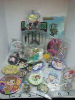 Anime figure keychain strap charm pin button badge Japan kawaii lot a