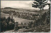 Ansichtskarte Wurzbach/Thüringen - Ortsansicht mit Kirche - schwarz/weiß