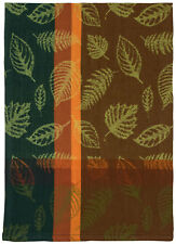 "100% Cotton Green Brown & Orange 20""x28"" Dish Towel, Set of 6 - Foliage Cocoa"