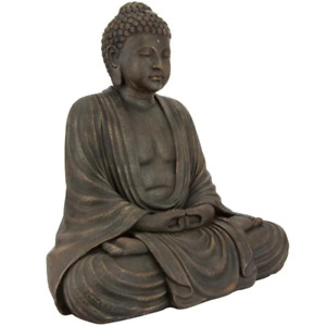 Sitting Buddha Statue Freestanding Resin Decor Home Outdoor Garden Lawn Use 3 Ft
