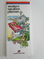 UNITED AIRLINES West Coast USA Canada Vacation Planner 1978 BC CA WA UT NV CO