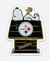 Pittsburgh Steelers MAGNET - custom Die Cut Snoopy Woodstock NFL Football Juju