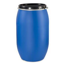 Fass, Tonne, 220 Liter Kunststoff, blau, Deckel mit Dichtung NEU & UNBENUT