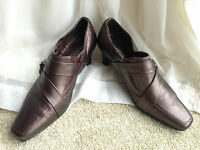 Ladies Hotter 'Broadway' Bronze metallic Leather Court shoes UK 5.5 EU 38.5