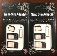nano to micro sim adapter for any carrier/all mobile 4in1 USA seller ( 2 Card )