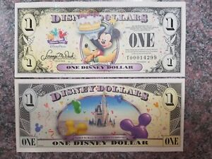 Authentically Disney 1 Dollar 2009 T Series UNC Mickey Mouse Pluto Disneyland